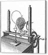 Priestleys Electrostatic Machine, 1775 Canvas Print