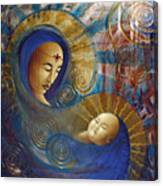 Primordial Mother Gives Birth To Solar Father Canvas Print