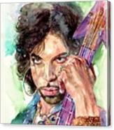 Prince Rogers Nelson Portrait Canvas Print