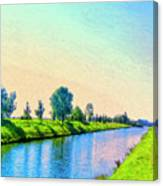 Provence Canal Canvas Print