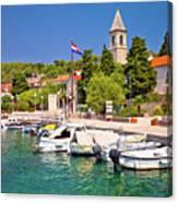 Prvic Luka Island Village Waterfront View Canvas Print
