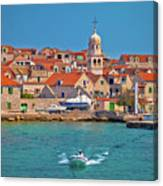 Prvic Sepurine Waterfront And Stone Architecture View Canvas Print
