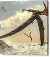 Pteranodon Birds Flying - 3d Render Canvas Print