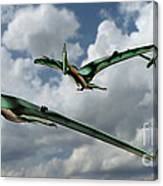 Pterodactyls In Flight Canvas Print