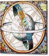 Ptolemaic Universe, 1660 Canvas Print