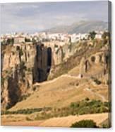 Puente Nuevo Tajo De Ronda Andalucia Spain Europe Canvas Print