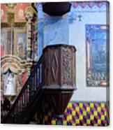Pulpit - San Xavier Mission - Tucson Arizona Canvas Print