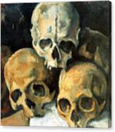 Pyramid Of Skulls Canvas Print