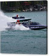 Racing Hydroplanes Boats On The Detroit River For Gold Cup Canvas Print