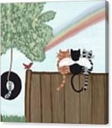 Rainbow Bridge Cats Canvas Print