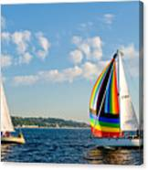Rainbow Sails Canvas Print