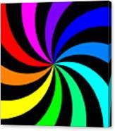 Rainbow Spectral Swirl Canvas Print