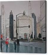 Rainy Day Chicago Canvas Print