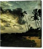 Rainy Seashore Canvas Print
