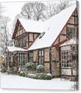 Ramlosa Brunnspark House In Winter Canvas Print