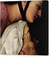 Raphael Madonna Dell Impannata  Canvas Print