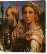 Raphael St Cecilia With Sts Paul John Evangelists Augustine And Mary Magdalene  Canvas Print