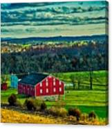 Red Barn - Pennsylvania Canvas Print