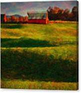 Rolling Hills And Red Barn, Rock Island, Tennessee Canvas Print
