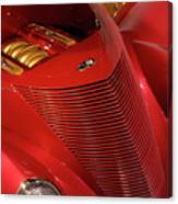 Red Classic Car Details Canvas Print
