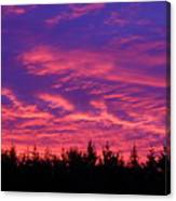 Red Clouds At Dawn Canvas Print