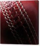 Red Cricket Ball Canvas Print
