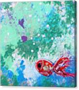1 Red Fish Canvas Print