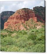 Red Rock At Caprock  Canvas Print
