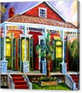 Red Shotgun House Canvas Print