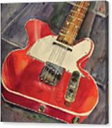 Red Telecaster Canvas Print