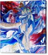 Red White And Blue Migraine Canvas Print