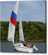 Red White And Blue Sails Canvas Print
