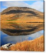 Reflection Of The Connemara Mountains In A Blue Lake Ireland Canvas Print