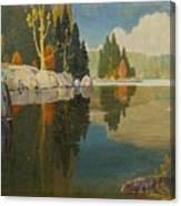 Reflective Lake Canvas Print