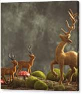 Reindeer Scene Canvas Print