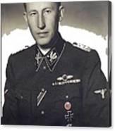 Reinhard Heydrich Circa 1940 Color Added 2016 Canvas Print