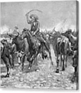 Remington: Cowboys, 1888 Canvas Print