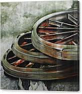 Resting Wheels Canvas Print
