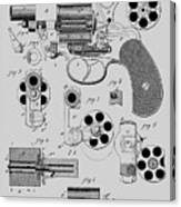 Revolving Fire Arm Patent 1881 Canvas Print