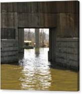 Richmond Floodwall Opening For Canal Canvas Print