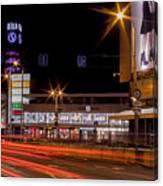 Riga By Night Canvas Print