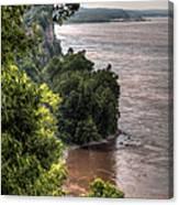 River Bluff View Canvas Print
