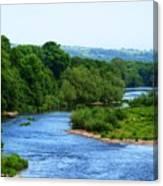River Wye From Hay-on-wye Bridge Canvas Print