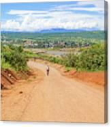 Road Landscape In Tanzania Canvas Print