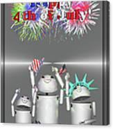 Robo-x9 Celebrates Freedom Canvas Print