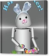 Robo-x9 The Easter Bunny Canvas Print