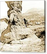 Rock Formation, Garden Of The Gods, 1915, Vintage Photograph Canvas Print