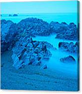 Rock Formations On The Coast, Central Canvas Print