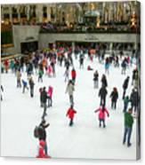 Rockefeller Center Skating Rink New York City Canvas Print