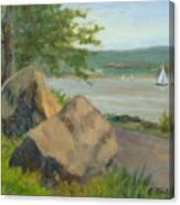 Rocks Along The Nyack Trail Canvas Print